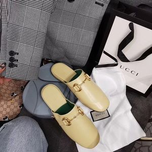 Auth Gucci pericles horsebit Princetown mules 37